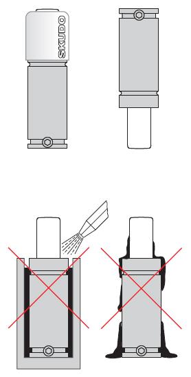 газовой пружины на схеме
