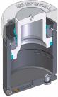 Инструментальная газовая пружина c максимальным усилием и наружной защитой от загрязнения