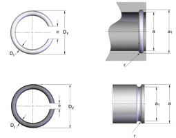 Стопорные кольца для валов, отверстий прямоугольного сечения